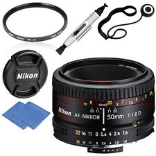 Nikon AF FX NIKKOR 50mm f/1.8D prime lens 52MM UV Bundle For DSLR Camera