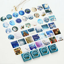 46 Pcs Winter Merry Christmas Diary Sticker Scrapbooking Seal Label Decoration