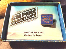Star Wars May The Force Be With You 1980 Empire Strikes Back Tin Metal Ring NIB