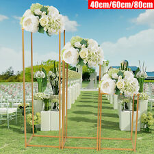 3Xgeometric Box Stand Iron Flower Frame Wedding Prop Party Decoration Display