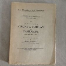 Un Français en Virginie - Avec un description de la VIRGINIE & MARILAN 1687