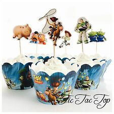 12 Toy Story Cupcake Topper + 12 Wrapper. Lolly Loot Bag Party Supplies Deco
