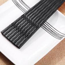 10 Pairs Japanese Chopsticks Alloy Non-Slip Sushi Chop Sticks Set Chinese Gift