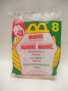 1996 McDonalds Marvel Human Torch  Happy Meal Toy - figurine  #8 NIP NEW