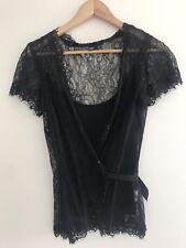ESPRIT COLLECTION Black lace Top XS