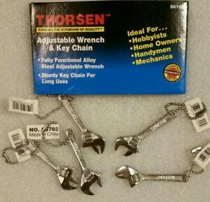 Thorsen 2-1/2 inch Mini Adjustable Wrench Chrome Plated Alloy Steel w/ Keychain