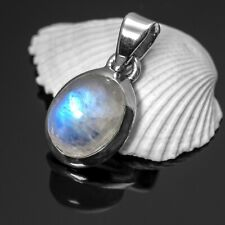 New Elegant 925 Sterling Silver MOONSTONE Gemstone Necklace Pendant Gift Boxed