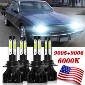 For Chevy Caprice 1987-1989 1990 Combo 9005 9006 Kit de faros LED Hi / Lo Beam