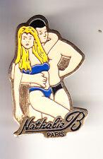 RARE PINS PIN'S .. FILLE SEXY GIRL EROTISME NUE CUB POUR COUPLE NATHALIE 75  ~CH