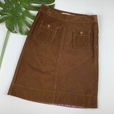 Gap Corduroy Skirt Size 6 Brown Cord A-line Pockets