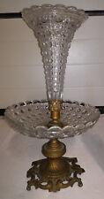 HUGE Antique french crystal brass bronze centerpiece art nouveau Paris Boudoir
