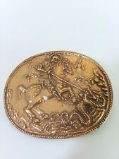 Vintage Alva Museum Replica St George Slaying The Dragon Brooch Pin