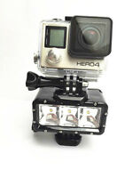 For Gopro hero4/3+/3 sjcam accessories ,30m waterproof LED Video Dive Light