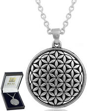 Flower Of Life Necklace Silver Sacred Pendant - Elegant Gift Box