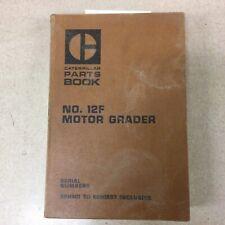 Cat Caterpillar 12f Parts Manual Book Catalog List Motor Grader Sn 89h901 1537
