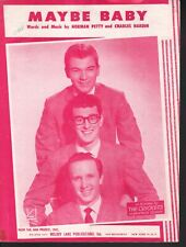 Maybe Baby 1957 Buddy Holly and The Crickets Sheet Music