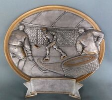 """Male Hockey trophy resin oval plaque 54441Gs 8"""" size"""
