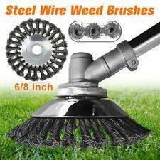 """8"""" 6"""" стальная проволока колесо щетка головка триммера для газонокосилки садовые травка щетка резак"""