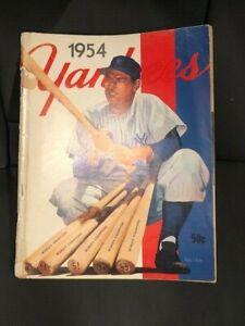 1954 Yankees Yearbook Original - 5 year World's Champions Fair Condition