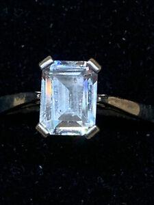 925 Silver QVC  Diamonique Ring
