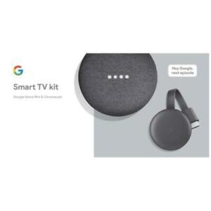 Google Smart TV Kit Chromecast 3rd Generation and Home Mini
