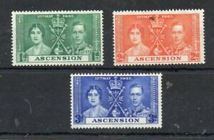 ASCENSION  STAMPS 1937 KING GEORGE VI CORONATION  MOUNTED MINT