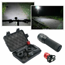 60000LM Two front Flashlight LED T6 LED Light Zoom Tactical 18650 +Torch Holder#