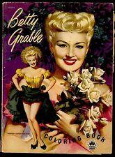 1953 BETTY GRABLE TWENTIETH CENTURY-FOX MOVIE STAR COLORING BOOK RARE