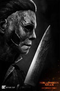 Halloween Myers Kills 2021 Horror Movie Wall Art Home Decor - POSTER 24x36