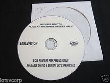 MICHAEL BOLTON 'LIVE AT THE ROYAL ALBERT HALL' 2010 PROMO DVD