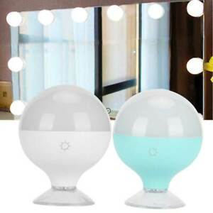 USB LED Mirror Makeup Light Bulb Dimmable Table Dressing Cosmetic Lamp W/Suction