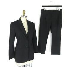36 / 2 US - JIL SANDER Black Light Wool Slim Fit Flattering Pant Suit 1217KZ