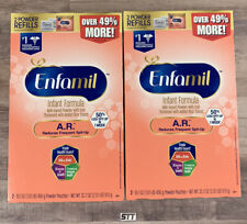 Enfamil A.R. Infant Formula for Spit-Up Powder 32.2 oz Refill Box LOT of 2 BOXES