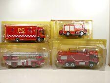 KAS21 LOT de 4 camions POMPIERS 1/43 collection cassés broken models rotos