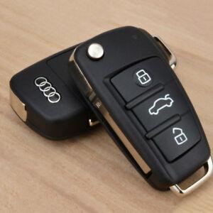 For Audi A3 A4 A5 A6 A8 Q5 Q7 TT RS 3 Button Remote Flip Key Shell Case Fob