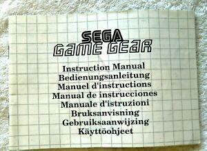 53293 Instruction Booklet - Sega Game Gear Instruction Manual - Sega Game Gear (