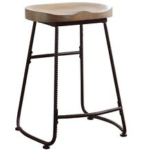 Driftwood Counter Height Stool With Dark Bronze Finish by Coaster 101085