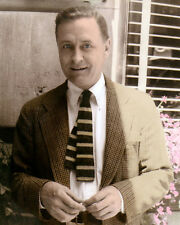 "FRANCIS SCOTT KEY FITZGERALD 1937 AUTHOR 8x10"" HAND COLOR TINTED PHOTOGRAPH"