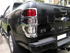 Chrome Tail Light LampTaillight Surrounding for Ford New Ranger PX MKII 2012-17