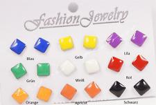 1 Paar Cuadrado Pendiente De Botón Color A Elegir Fashion Pendientes Iva 1x1 cm