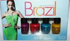 Set Of 4 OPI Brazil Collection MINI Nail Polishes 1/8 oz Each **