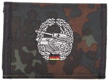 german army Panzer Tank camo flecktarn  Men's Nylon Bifold Velcro Wallet purse