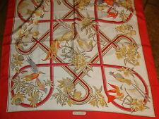 Hermes silk scarf. Caraibes  by Christiane Vauzelles NEW with box