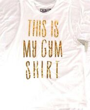 New Chin Up Apparel Tank Muscle Top Sleeveless This is My Gym Shirt Exercise