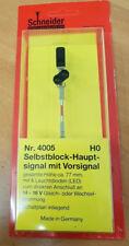 Schneider 4005  Selbstblock - Hauptsignal H0  mit Vorsignal 6 LED Neu
