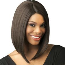 Womens Ladies Grey Ombre Short Straight Hair Wigs Bob Style Natural Cosplay Wig