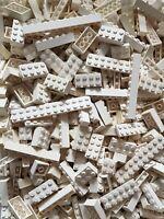 LEGO 300x Weiß Baustein Hoch Flach 1x1 Bis 2x12 Noppen Basic Balken Plättchen