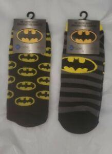 "2 pairs of ""batman"" no show socks"