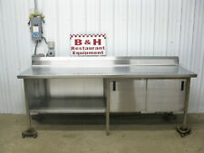 96 X 30 Stainless Steel 2 Two Door Heavy Duty Kitchen Cabinet Work Table 8