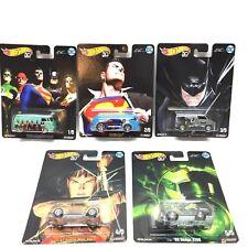 Hot Wheels Pop Culture series DC Alex Ross 5 Real Rider Set 1-5 NEW